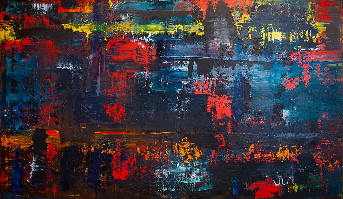 Abstract Painting by Kirk Saber