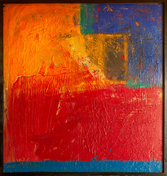 Encaustic Abstract Painting by Kirk Saber