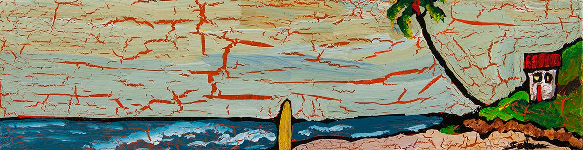 Beach Painting by Kirk Saber